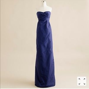 J.CREW Collection Arabelle long dress silk taffeta